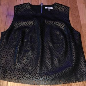 DKNYC Faux Leather Tank Top